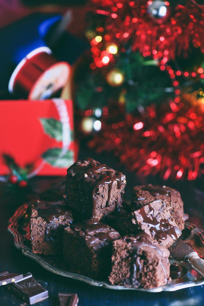 Brownies al cioccolato Natale