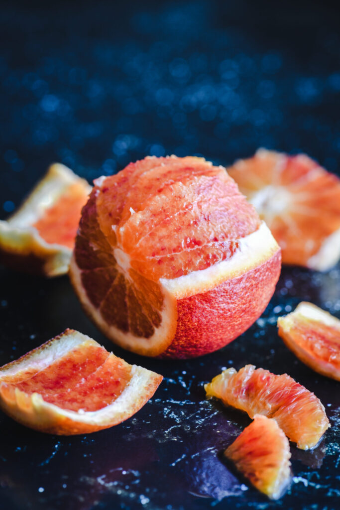 Macro arancia rossa