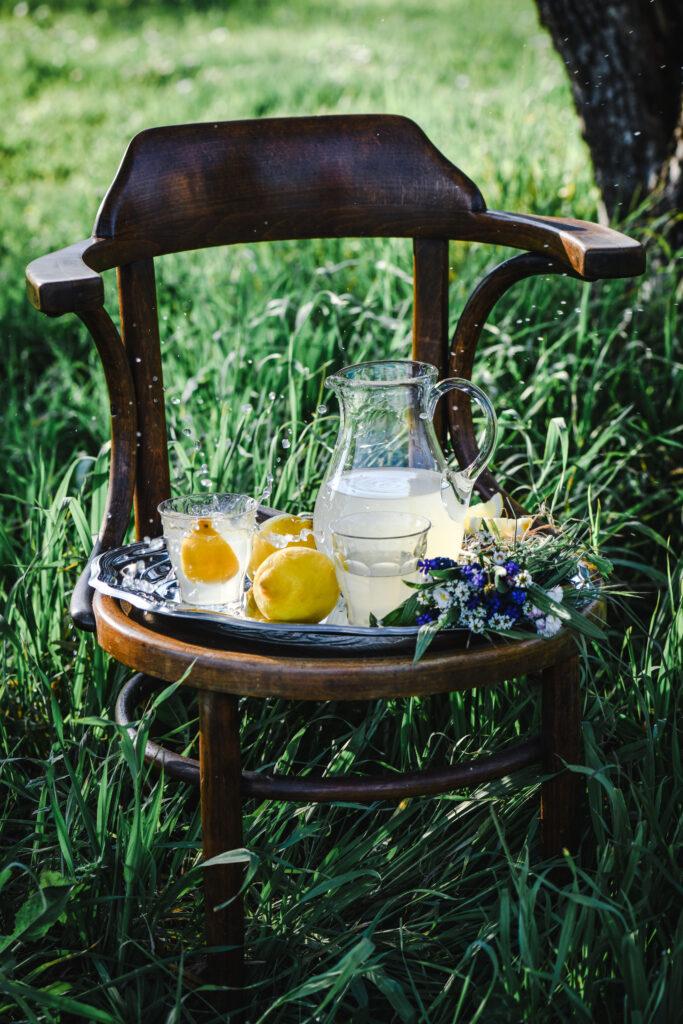 Limonata in giardino